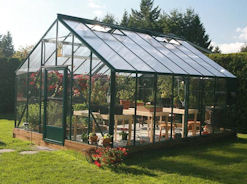 Acadian Greenhouse with Intermediate Roof