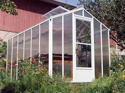 Polycarbonate Greenhouse with White Aluminum Frame