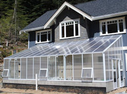 Polycarbonate Evangeline Lean To Greenhouse