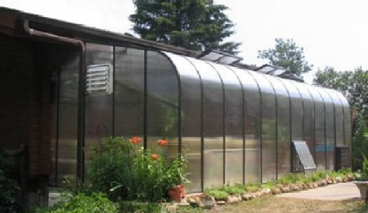 acadian lean-to greenhouses fascia attached