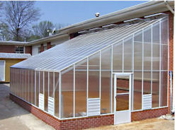 Evangeline Straight Eave Lean To Greenhouse